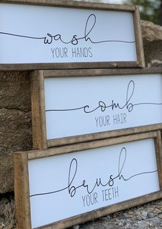 Your place to buy and sell all things handmade Wood signs sign wash brush comb farmhouse decor Farmhouse Wall Decor, Farmhouse Style Kitchen, Farmhouse Signs, Rustic Farmhouse, Urban Farmhouse, Cuadros Diy, Diy Home Decor For Apartments, Diy Wood Signs, Wood Signs For Home