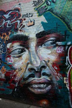 new york street art Street Wall Art, Murals Street Art, Street Art Graffiti, New York Street Art, Best Street Art, Auckland, Best Graffiti, Graffiti Artwork, Sidewalk Art