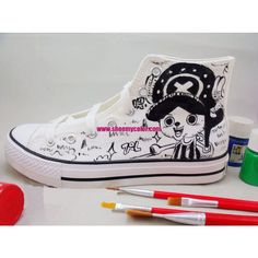 One Piece Anime Tony Tony Chopper Hand Painted High Top Canvas Sneakers