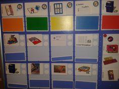 Planbord veilig leren lezen. Verschillende kleuren per groepje, wisselen.