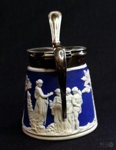 Free Delivery, Silver Plate, Mustard, Porcelain, Pottery, English, Ceramics, Antiques, Shop
