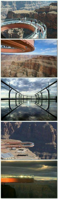 Experience the Grand Canyon. #sky walk