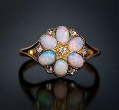 Antique German opal ring circa 1900