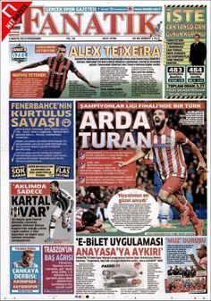 Portada de Fanatik (Turquía): Arda Turan