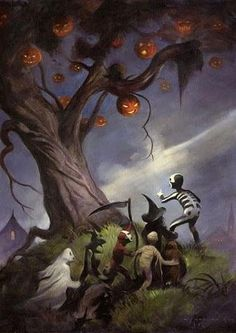 Mike Hoffman HALLOWEEN TREE via Etsy. The Halloween Tree.  My fav Ray Bradbury book
