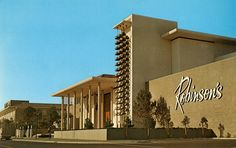 Robinson's Department Store, Fashion Island, Newport Beach by built in 1967. Designed by Welton Becket and William Pereria. Photo courtesy Orange County Archives