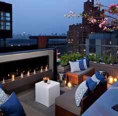 Thompson Hotels' terrace lounge, New York