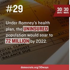 This is Mitt Romney's idea of a health plan.