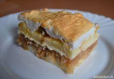 Žemľovka s tvarohom a jablkami Quick Meals, Apple Pie, Pancakes, Sandwiches, Breakfast, Desserts, Food, Retro, Fast Meals