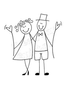 and another (Diy Ornaments Wedding) - Best Wedding İdeas Doodle Drawings, Cartoon Drawings, Easy Drawings, Doodle Art, Stick Figure Drawing, Doodles, Stick Figures, Rock Art, Wedding Couples