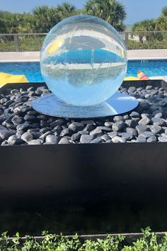 New Design Ideas - Allison Armour Sphere Fountain Landscape Design, Garden Design, Fountain Design, Indoor Fountain, Water Features In The Garden, Better Homes And Gardens, Luxury Living, News Design, Garden Sculpture