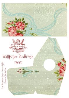 Wings of Whimsy: Wallpaper Birdhouse No 29