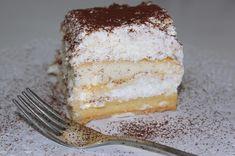Tejbegrízes - babapiskótás desszert Vanilla Cake, Tiramisu, Food And Drink, Sweets, Ethnic Recipes, Coloring, Recipes, Gummi Candy