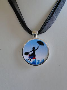Broadway Musical Mary Poppins Pendant Necklace. $12.00, via Etsy.
