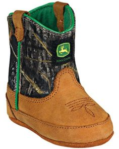 John Deere Crib Classic Pull-On Boot - Mossy Oak. Cute Babies, Baby Kids, Camo Baby Stuff, Pull On Boots, Baby Boots, Baby Fever, Boys Shoes, Future Baby, Baby Boy Outfits