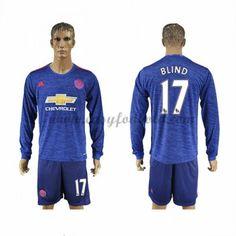 Fodboldtrøjer Premier League Manchester United 2016-17 Blind 17 Udebanetrøje Langærmede