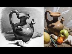 Still Life Drawing in Pencil - Timelapse - YouTube
