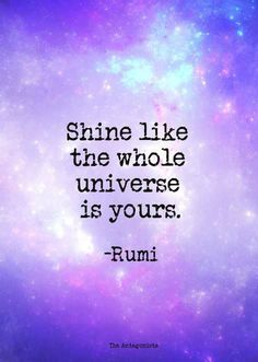 Shine, darlings. Shine! ☼