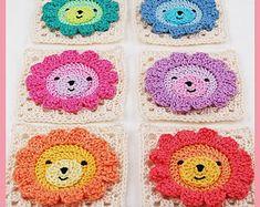 CROCHET PATTERN: teddy bear crochet baby blanket pattern and step-by-step tutorial, Häkelanleitung, baby afghan Crochet Motifs, Granny Square Crochet Pattern, Crochet Granny, Crochet Squares, Baby Afghan Crochet, Crochet Blanket Patterns, Baby Patterns, Crochet Shawl, Granny Square Häkelanleitung