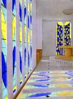 Henry Matisse designed these Stained glass windows.  Let's Start this Sunday BRIGHT AND COLORFUL!