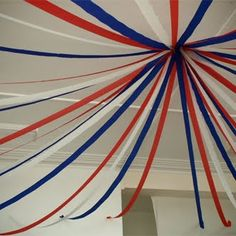 cheap idea, super cute in any color! – Holiday is fun Fourth Of July Crafts For Kids, 4th Of July Party, Tent Decorations, 4th Of July Decorations, French Themed Parties, French Dinner Parties, Memorial Day Foods, Usa Party, Wonder Woman Party