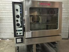 Blodgett BC14GAA Combi Convection Oven oN Stand Notes: Very nice oven, seller is motivated. Please bring offers. Specifications:      MFG: Blodgett     Model: BC14G / AA     Power: Gas, 115 Volt Controls     Dimensions: 38″l x 37″w x 70″h     Ship Weight: ~1,100lbs  Shipping Included: Oven & 2 Racks Warranty: As-Is,  Blodgett Combi Convection Oven/Steamer with stand. Model # BC14G/AA, Serial # 062101X0543. Oven is 115 volts, natural gas, 115,000 btu's, NSF, ANSI and ETL approved. Oven has…