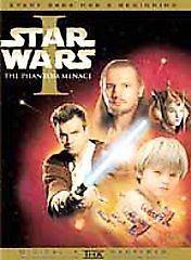 Star Wars The Phantom Menace DVD 2 disc Liam Neeson Evan McGregor Samuel Jackson