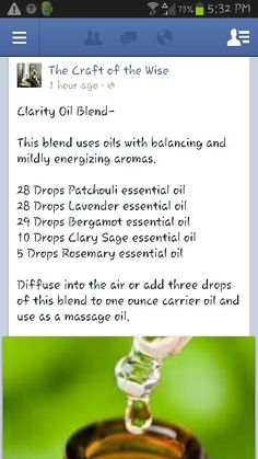 Clarity Oil Blend - Energizing and balancing oil blend