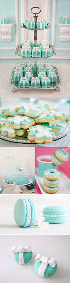 Breakfast at Tiffany's Bridal Shower: love the mini cakes and cookies @abbylondyn @kristenconner7 @cl_conner: