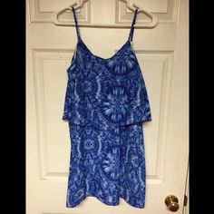 Blue Tie Dye Dress Worn only once and fits true to size! Dresses