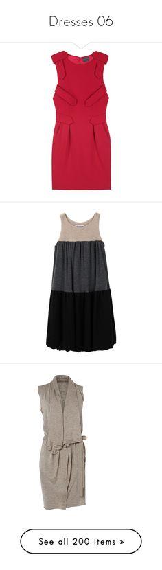"""Dresses 06"" by atomik-concia ❤ liked on Polyvore featuring dresses, vestidos, women, mini dress, bateau neckline dress, wool mini dress, short red dress, boatneck dress, платья and vestiti"