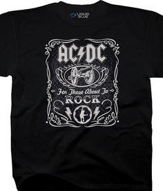 845f3542237 Liquid Blue AC DC Black Rock Cannon Tee LT