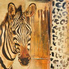 New Safari on Gold Square I Kunstdruck