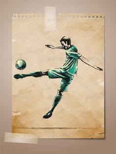 Football, Soccer Player Sketch on Aged Note Paper  #GraphicRiver         Football, Soccer Player Sketch on Aged Note Paper | EPS10 Vector Background | Layers Organized and Named Accordingly | Package contains EPS 10 and AI vector formats + High Res JPG preview     Created: 9October12 GraphicsFilesIncluded: JPGImage #VectorEPS #AIIllustrator Layered: Yes MinimumAdobeCSVersion: CS Tags: action #artistic #athlete #athletics #background #ball #champion #championship #draw #football #game…