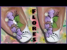Uña decorada con mariquita y flor - YouTube Toe Nails, Pedicure, Lily, Nail Art, Tattoos, Youtube, Nail Art Videos, Nail Arts, Art Nails