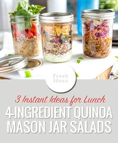 3 Super Simple Mason Jar Quinoa Salads