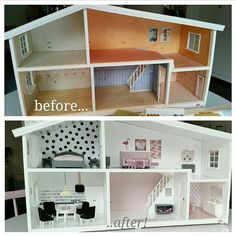 Take a look at this beautiful Lundby makeover from @pernillasprojekt Give us your best Lundby DIY tip, Pernilla! #lundby #lundbydiy #lundbymakeover #lundbydockskåp #lundbydollshouse #dockskåp #dollshouse