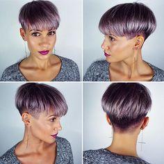 ✖️360 degree view✖️Big thanks to all of you for the sweet comments on my new hair color💜 I'm even thinking about getting darker next time, as I think it suits me very well. But we will see☺️✌🏽️ • Vielen lieben Dank an euch alle für die lieben Kommentare zu meiner neuen Haarfarbe💜 Ich bin sogar schon am überlegen das nächste Mal ein wenig dunkler zu gehen, oder vielleicht alles dunkellila zu machen😱 Aber wir werden sehen☺️✌🏽️ #me #hair #haircut #undercut #purple #hairstyle #style…