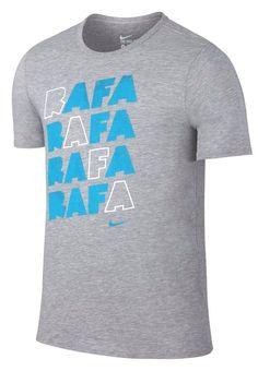 Nike Rafa Nadal Graphic Dri-FIT Tennis Crew Shirt Mens M Grey Gamma 882920 063 #Nike #ShirtsTops