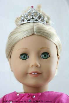 Doll Craft- Making a Mini Tiara Easier to Wear — Doll Diaries American Girl Doll Shoes, American Girl Accessories, American Girl Crafts, American Doll Clothes, Ag Doll Clothes, Doll Clothes Patterns, Doll Accessories, Doll Patterns, American Dolls