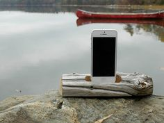 Charge your iPhone or iPod on a Driftwood Docking Station. Each docking station is uniquely designed by nature using the wind, sea and sand as its tools. Latest Gadgets, Gadgets And Gizmos, Technology Gadgets, Tech Gadgets, Iphone Docking Station, Wilderness Resort, New Project Ideas, Lake Resort, Home Workshop