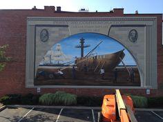 Bicentennial mural by Michael Hinman.