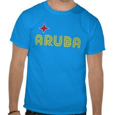 Aruba Retro T-Shirt Design