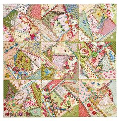 Hardanger Embroidery Ideas BOOK, 'Foolproof Crazy Quilting' by Jennifer Clouston / via C Crazy Quilting, Crazy Quilt Stitches, Crazy Quilt Blocks, Crazy Patchwork, Crazy Block, Art Quilting, Quilting Ideas, Hardanger Embroidery, Hand Embroidery Stitches