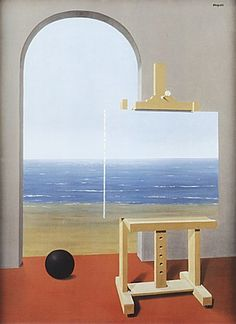 Rene Magritte -The Human Condition, 1935.  Art Experience NYC  www.artexperiencenyc.com/social_login/?utm_source=pinterest_medium=pins_content=pinterest_pins_campaign=pinterest_initial