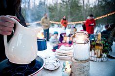 splendid idea for a 'winter picnic'  @Anna Kraft