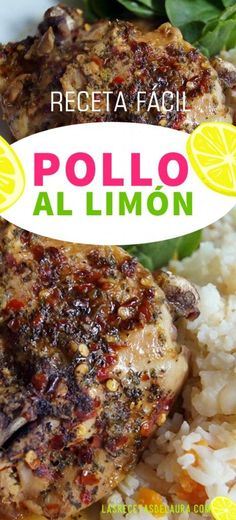 Pollo al limón - Easy Family Recipes Food Pollo Chicken, Oven Chicken, Lemon Chicken, I Love Food, Good Food, Yummy Food, Kitchen Recipes, Cooking Recipes, Easy Healthy Recipes