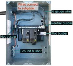 Pictorial diagram for wiring a subpanel to a garage electrical wires connect to subpanel cheapraybanclubmaster Image collections