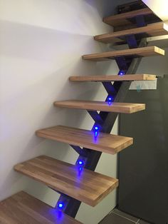 Home Stairs Design, Interior Stairs, House Design, Loft Staircase, House Stairs, Wrought Iron Stairs, Steel Stairs, Modern Stairs, Floating Stairs