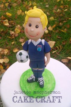 by JM Cake Craft. Soccer Player